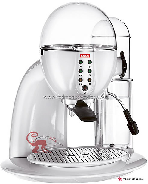 Bodum White Granos UK Pump Espresso Machine Granos Bodum Coffee Maker - Red Monkey Coffee UK