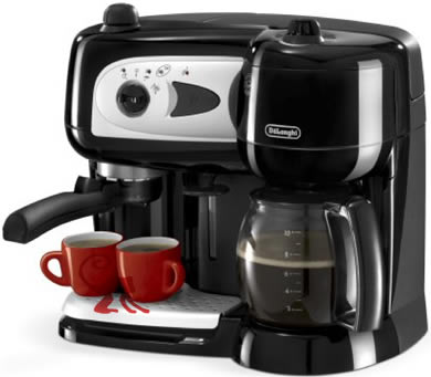 delonghi pumped espresso and filter coffee machine combo. Black Bedroom Furniture Sets. Home Design Ideas
