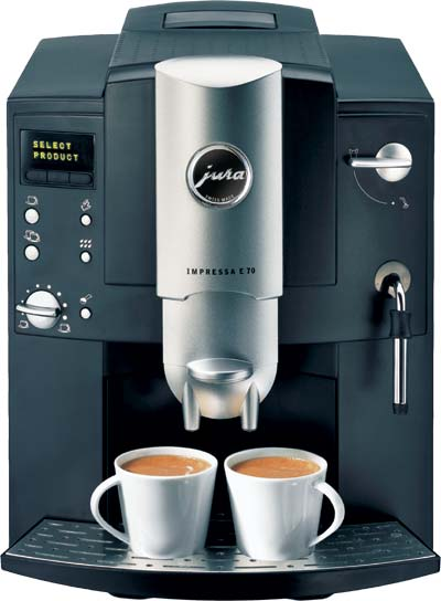 Espresso Coffee Maker Combo Grinder : Jura Impressa E70 Automatic Espresso Machine and Bean Grinder Combo - Red Monkey Coffee UK