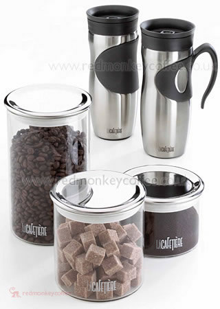 uk la cafetiere travel mugs spill leak proof stainless steel red monkey coffee uk. Black Bedroom Furniture Sets. Home Design Ideas